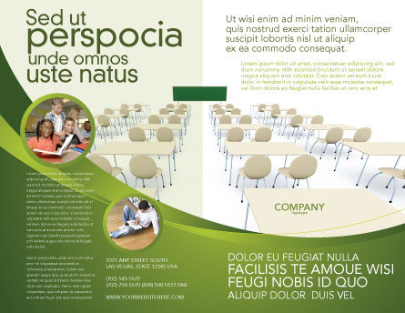 School Class Brochure Template, Outer Page, 03212, Education & Training — PoweredTemplate.com