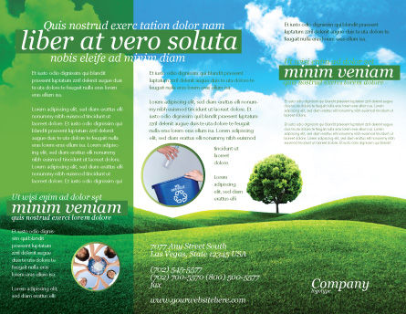 Meadow Brochure Template, Outer Page, 03213, Nature & Environment — PoweredTemplate.com