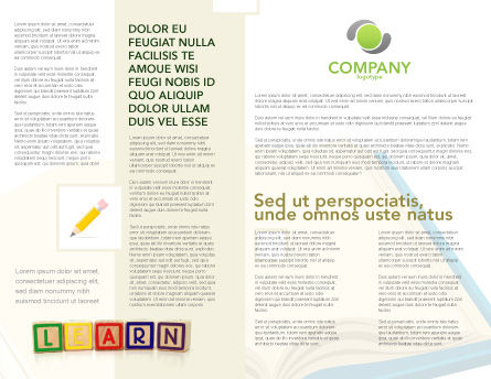Learning Cubes Brochure Template Inner Page