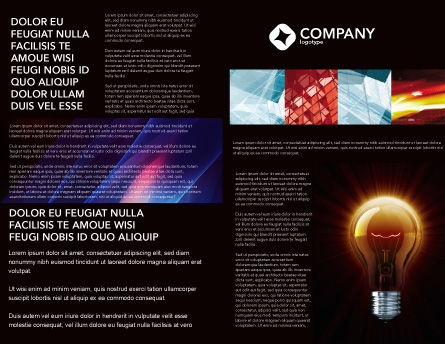 Light Bulb Brochure Template, Inner Page, 03218, Business Concepts — PoweredTemplate.com