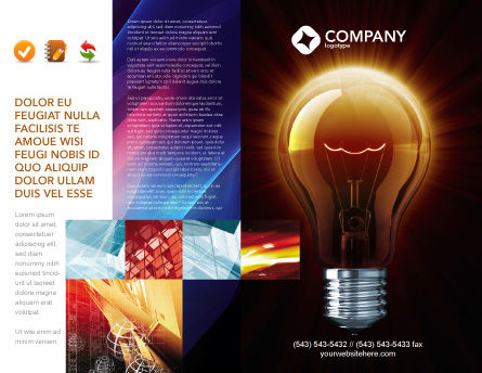 Light Bulb Brochure Template, Outer Page, 03218, Business Concepts — PoweredTemplate.com