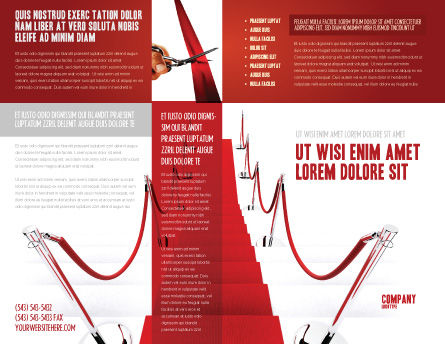 Red Carpet Path Brochure Template Outer Page