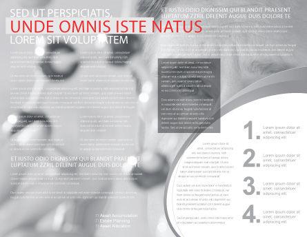 Business Teamwork Brochure Template, Inner Page, 03228, Careers/Industry — PoweredTemplate.com