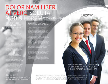 Business Teamwork Brochure Template Outer Page