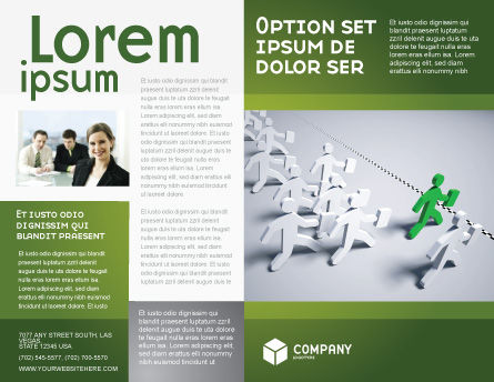 Business Work Brochure Template, Outer Page, 03229, Business Concepts — PoweredTemplate.com