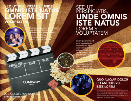 Films and Cinema Brochure Template, Outer Page, 03230, Art & Entertainment — PoweredTemplate.com
