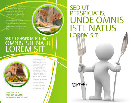 Meal Brochure Template, Outer Page, 03236, Careers/Industry — PoweredTemplate.com
