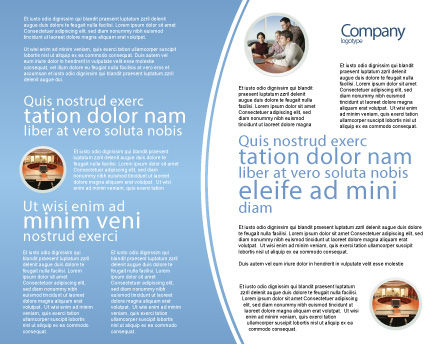 Charts Brochure Template, Inner Page, 03247, Technology, Science & Computers — PoweredTemplate.com