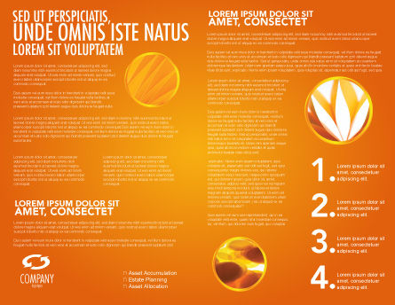 Orange Wave Surface Brochure Template, Inner Page, 03258, Abstract/Textures — PoweredTemplate.com