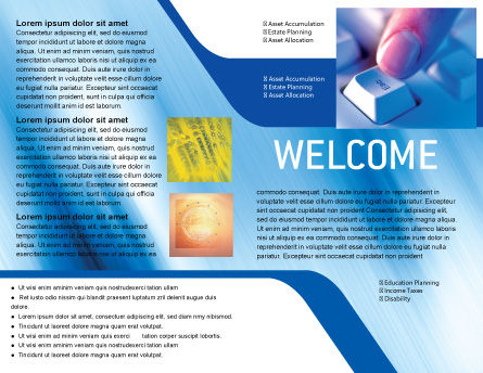Escape Key Brochure Template, Inner Page, 03269, Technology, Science & Computers — PoweredTemplate.com
