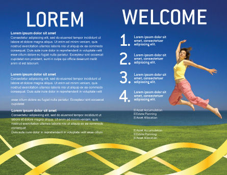 Happiness Brochure Template, Inner Page, 03273, Consulting — PoweredTemplate.com