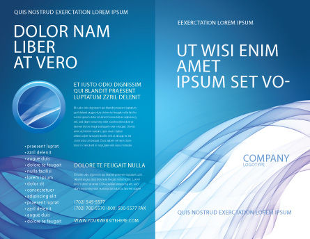 Blue Veil Brochure Template Outer Page
