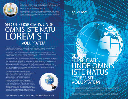 Worldwide Brochure Template, Outer Page, 03279, Global — PoweredTemplate.com