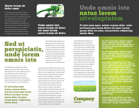 Biofuel Brochure Template, Inner Page, 03288, Nature & Environment — PoweredTemplate.com