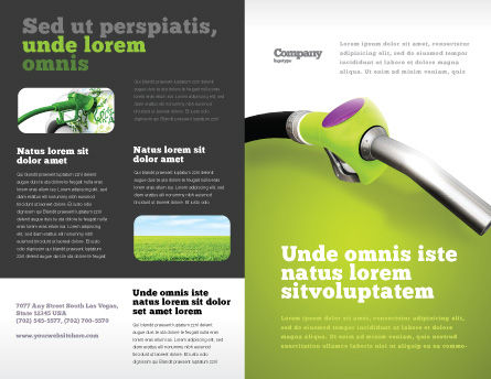 Biofuel Brochure Template, Outer Page, 03288, Nature & Environment — PoweredTemplate.com