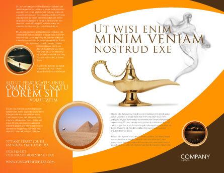 Genie Lamp Brochure Template, Outer Page, 03289, Art & Entertainment — PoweredTemplate.com