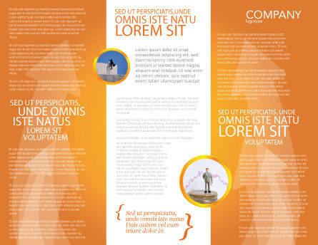 Career Jump Brochure Template, Inner Page, 03296, Careers/Industry — PoweredTemplate.com