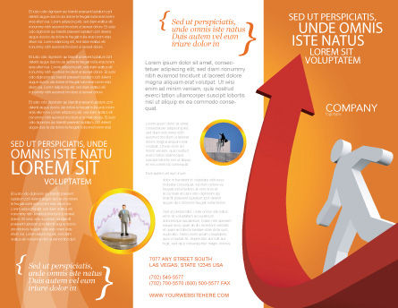 Career Jump Brochure Template, Outer Page, 03296, Careers/Industry — PoweredTemplate.com