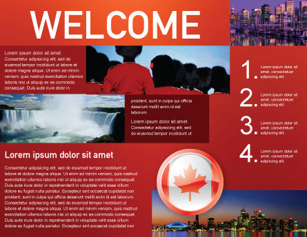 Canada Sign Brochure Template, Inner Page, 03308, Flags/International — PoweredTemplate.com