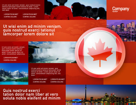 Canada Sign Brochure Template, Outer Page, 03308, Flags/International — PoweredTemplate.com
