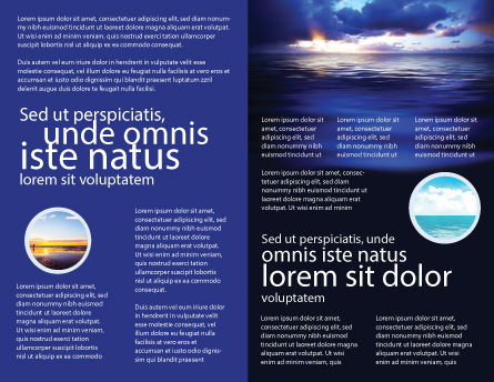 Sea Water Brochure Template, Inner Page, 03324, Nature & Environment — PoweredTemplate.com