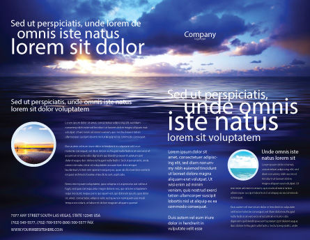 Sea Water Brochure Template, Outer Page, 03324, Nature & Environment — PoweredTemplate.com