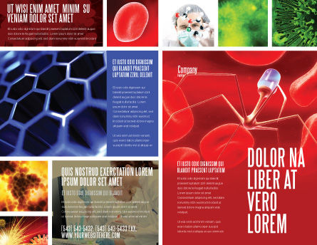 Nanotechnology In Medicine Brochure Template, Outer Page, 03329, Medical — PoweredTemplate.com