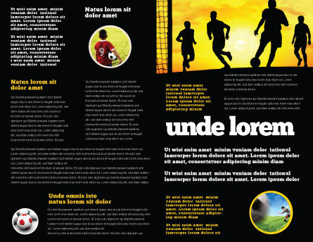 European Football Brochure Template Inner Page