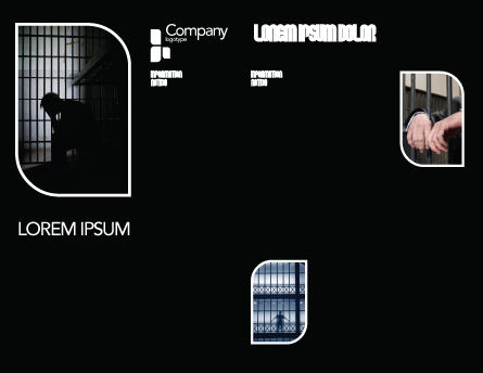 Prison Cell With Prisoner Brochure Template, Inner Page, 03377, Legal — PoweredTemplate.com
