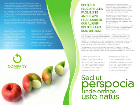 Three Quarters Apple Brochure Template Inner Page