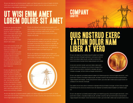 Transmission Facilities Brochure Template, Inner Page, 03380, Utilities/Industrial — PoweredTemplate.com