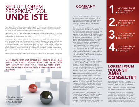Abstract Problem Solution Brochure Template, Inner Page, 03381, 3D — PoweredTemplate.com