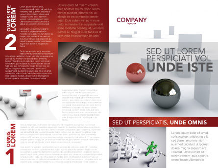 Abstract Problem Solution Brochure Template, Outer Page, 03381, 3D — PoweredTemplate.com