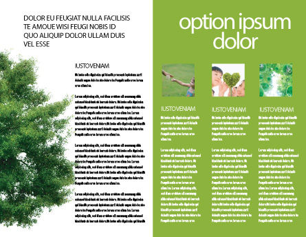 Yggdrasill Brochure Template, Inner Page, 03382, Nature & Environment — PoweredTemplate.com