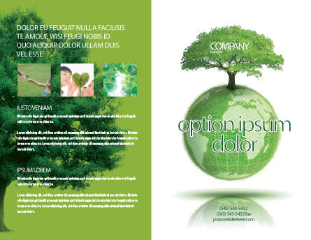 Yggdrasill Brochure Template, Outer Page, 03382, Nature & Environment — PoweredTemplate.com