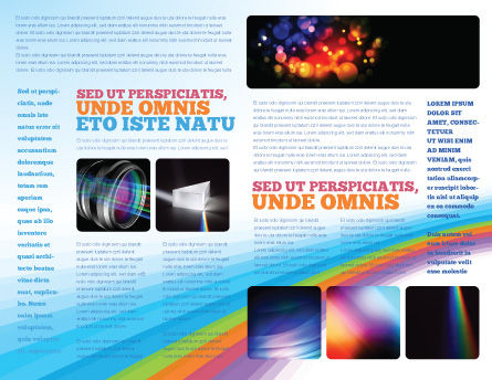 Prism Brochure Template, Inner Page, 03386, Technology, Science & Computers — PoweredTemplate.com