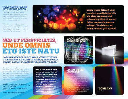 Prism Brochure Template, Outer Page, 03386, Technology, Science & Computers — PoweredTemplate.com