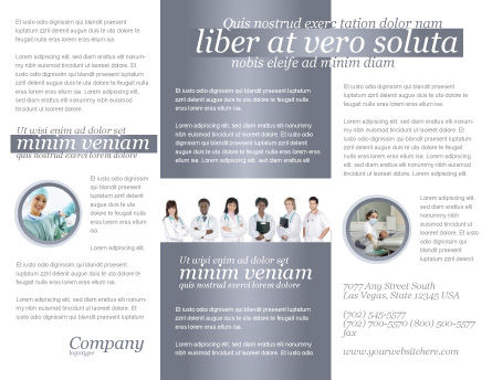 Medical Interns Brochure Template Inner Page