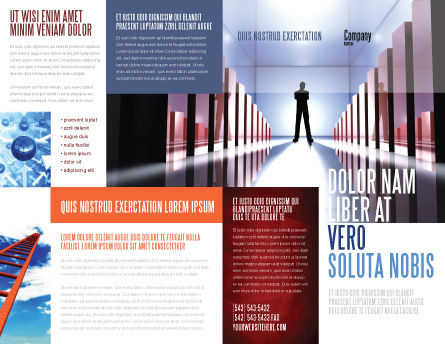 Perspective Brochure Template, Outer Page, 03395, Business Concepts — PoweredTemplate.com