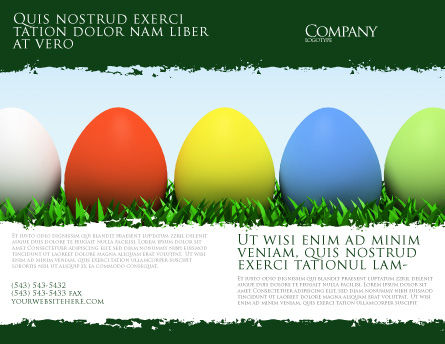 Easter Eggs Brochure Template Design And Layout, Download Now