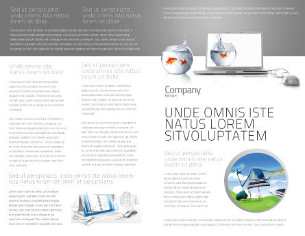 Multimedia Laptop Brochure Template, Inner Page, 03402, Business Concepts — PoweredTemplate.com