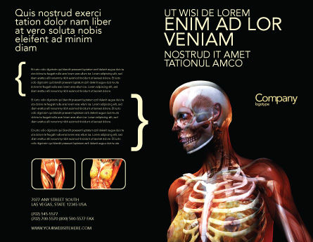 Female Anatomy Breast And Facial Bones Brochure Template, Outer Page, 03404, Medical — PoweredTemplate.com