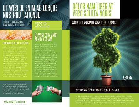Green Dollar Breeding Brochure Template Outer Page