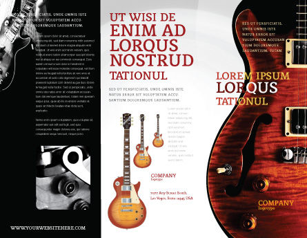 Semi Acoustic Guitar Brochure Template Outer Page