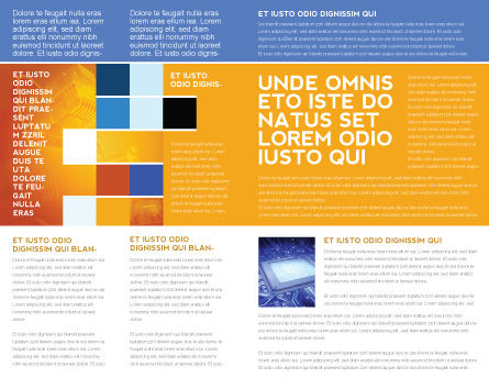 Circuit Board Brochure Template, Inner Page, 03422, Technology, Science & Computers — PoweredTemplate.com