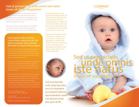 Little Baby Brochure Template, Outer Page, 03426, People — PoweredTemplate.com