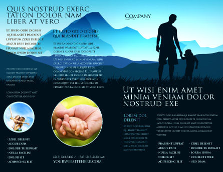 Starting Point Brochure Template, Outer Page, 03429, Religious/Spiritual — PoweredTemplate.com