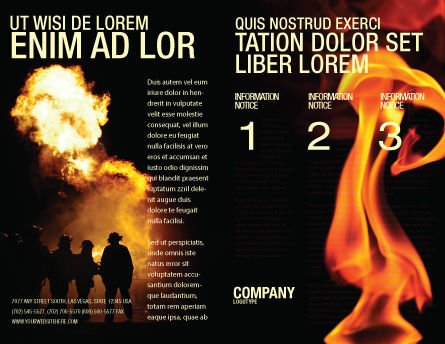 Fire Brigade Brochure Template, Outer Page, 03434, Careers/Industry — PoweredTemplate.com