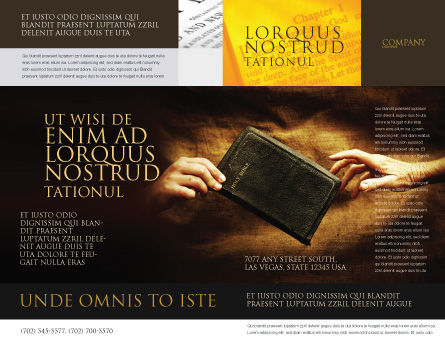 Christianity Brochure Template Outer Page