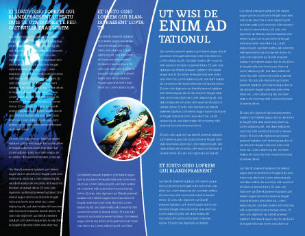 Diving Brochure Template, Inner Page, 03439, Sports — PoweredTemplate.com